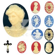 Resin Religious Cross Jesus Oval Round Cabochon Cameo Wholesale Lots RB0603