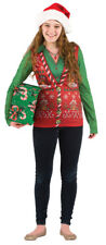 Ugly Sweater Christmas Vest Adult Shirt Costume Fancy Dress,