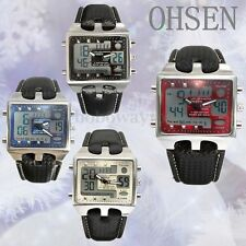 OHSEN Luxury Alarm Analog Digital Men's Waterproof Quartz Sport Wrist Watch New