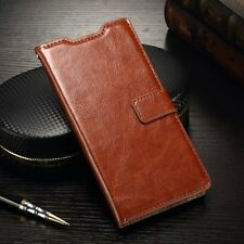 Vintage Glossy Leather Case Card Wallet Flip Stand Cover Skin For Sony Xperia M5