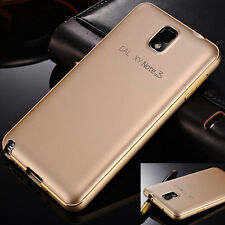 Luxury Ultra-thin Aluminum Metal Bumper PC Back Cover Case For iPhone/Samsung