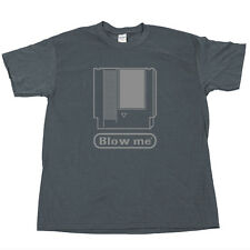 NES Cartridge BLOW ME T Shirt SNES Sega Genesis N64 Console Nintendo Games Lot