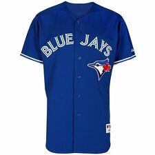 2015 Toronto Blue Jays MAJESTIC Authentic On-field Alternate Blue Jersey Men's