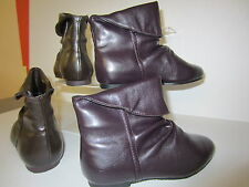 Spot On Girls Ankle Boots H4007 Plum or Brown UK 10 X 1 (KR)