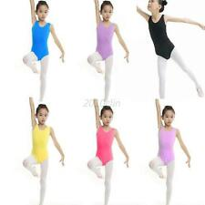 Girls Kid's Gymnastics Dance Dress Ballet Tutu Leotard Skirt Dancewear 4-13Y C78