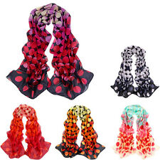 Gradient color Womens LadY Autumn winter Voile Long Stole Scarves Shawl Scarf
