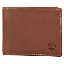 Timberland Mens Genuine Leather Bifold Passcase Wallet
