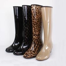 Hot Women Ladies Rain Boots Rubber 4 style Wellies Mid-Calf boots Knee High Shoe
