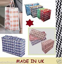 LARGE LAUNDRY SHOPPING ZIPPED BAG REUSABLE JUMBO STORAGE LUGGAGE BAG SACK ZIP LN