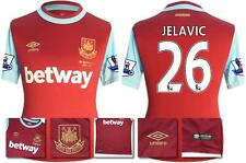 *15 / 16 - UMBRO ; WEST HAM UTD HOME SHIRT SS + PATCHES / JELAVIC 26 = SIZE*