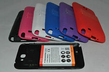 Samsung 6500mAh Extended Battery + TPU Silicone Case Galaxy Note 2/II N7100