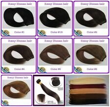 150g Deluxe Thick Straight Virgin Weft Hair Wave 100%Real Human Hair Extensions