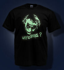 JOKER t shirt HEATH LEDGER RIP why so serious? BATMAN glow in the dark t-shirt