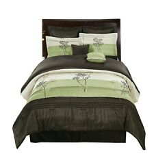 Portland Sage Luxury Bed in a Bag Bedding Set (12-Piece, Queen-Size)