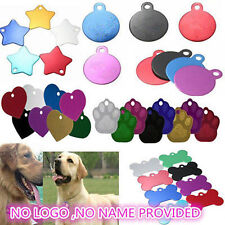 HOT Cute Personalized DIY Pet ID Tag Dog Cat Animal Name Tag Necklace Card ONLY