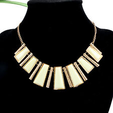 Fashion Stick Enamel Irregular Sweater Chain Pendant Cluster Bib Necklace Short