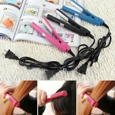 New Portable Mini Ceramic Hair Care Curl Straightener Flat Iron Perm Splint Pink
