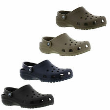 Crocs Classic Cayman Mens Womens Black Brown Navy Clogs Shoes Size UK 4-13