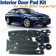 Non-slip Car Rubber Interior Door Cup Holder Mat Slot Pad for Audi Toyota BMW VW