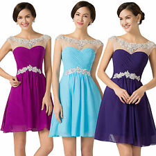 Short Prom Formal Evening Bridesmaid Party Gown Homecoming Dress 8 10 12 14 16++