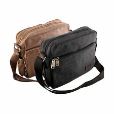 Mens Vintage Canvas Leather Messenger Bag Satchel School Shoulder Bag Briefcase