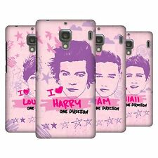OFFICIAL ONE DIRECTION PINK GRAPHIC FACES HARD BACK CASE FOR XIAOMI PHONES