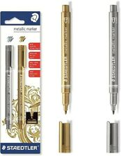 "STAEDTLER METALLIC MARKER PENS ""Set of 2 pens"" 8323-S BK2 - GOLD & SILVER"