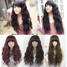 Women Corn Curly Wavy Cosplay Costume Wig Brown/Black Multi-Colors Long Hair Wig