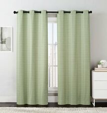 Sage Manor Printed Grommet Blackout Window Top Curtain (Set of 2 Panels)