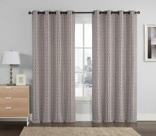 Chocolate Empress Jacquard Embroidered Window Treatment Grommet Panel (Set of 2)