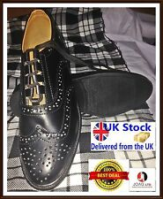 Ghillie Brogues PU Leather Ghillie Brogues Scottish Kilt Shoes UK Sizes 7-11/