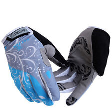 Full Finger Sport Cycling Gloves Women's Shockproof Bike Bicycle Gloves Gel Pad