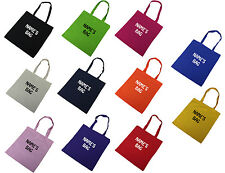 CUSTOM NAME TOTE BAG COTTON BAG PERSONALISED CUSTOMISED NAME COTTON TOTE BAG