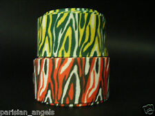 "25mm (1"") Printed Grosgrain Ribbon - Zebra Stripes #1"