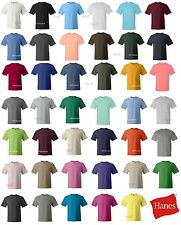 3 Pack of Hanes Beefy-T 6.1 oz. Cotton T-Shirt 5180 S-2XL 41 Colors! NEW