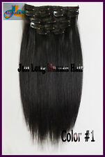 170g 200g 250g Luxury Thick Clip in REMY 100%Real Human Hair Extension,Jet Black