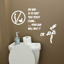 Toilet Bathroom Funny Wall Quote Stickers Wall Decals Bathroom Decorations