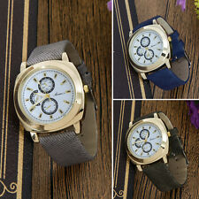 2016 New Fashion Mens Analog Quartz Casual Watch Leather Band Sport Wristwatches