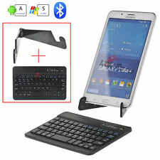 Wireless Bluetooth Keyboard TouchPad Holder for Android/Windows/iPad Tablet New