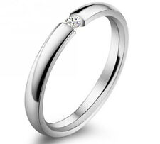unisex 18K White Gold GP Austria Crystal Bridal Diamond Ring bands R72c