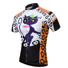 Cat Girl Orange Women Cycling Clothing Short Sleeve Bicycle Bike Jerseys Jacket