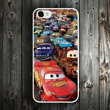 Cars Cartoon Movie Show Case Back Skin Cover For iPhone 4 4s 5 5c 5s 6 6s Plus