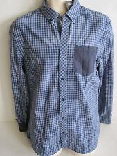 BUFFALO Men's Blue Check Slim Fit Long Sleeve Shirt Size M,L NWT