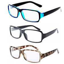 3 PCS SET Classic Vintage Retro Rectangle Style Clear Lens Glasses Frame Eyewear