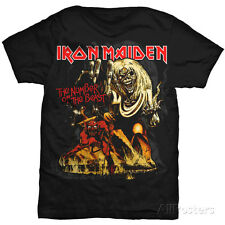 Iron Maiden - Number of the Beast T-Shirt Black Shirt Tee New