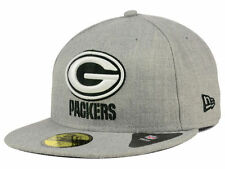 Official NFL Green Bay Packers New Era 59FIFTY Heather Black White Fitted Hat