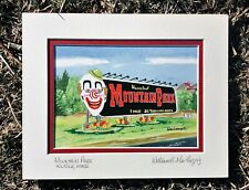 MOUNTAIN PARK ART PRINT Holyoke MA Amusement Carnival Rides Mt Tom Pioneer Gift