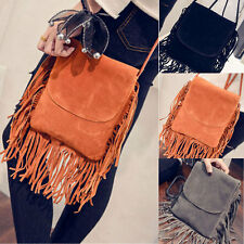 2016 Hot Celebrity Tassel Suede Fringe Shoulder Messenger Handbag Cross Body Bag