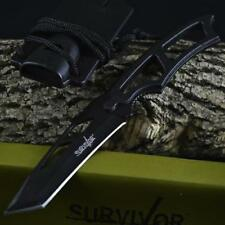 "7"" TACTICAL COMBAT NECK KNIFE Survival Hunting MILITARY BOWIE DAGGER Fixed Blade"
