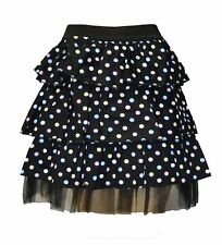3 Layer Black Pastel Polka Dot Skirt Tutu Emo Alternative Clothing Goth
